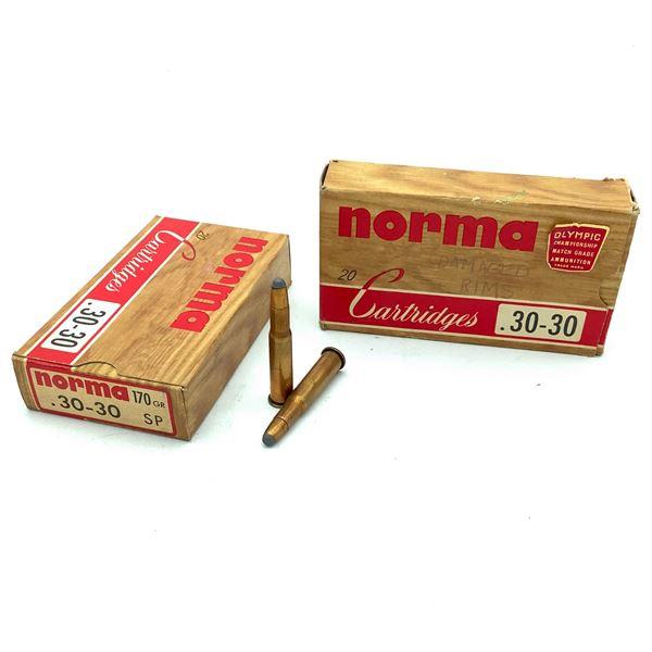 Norma 30-30 Win 170 Grain SP Ammunition, 29 Rounds