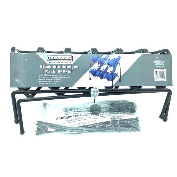 Lockdown , Stackable Handgun Rack 6plus 6, New.