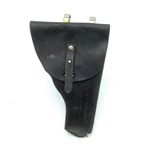 Leather Holster With Attachment Loops, Black