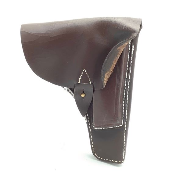 Leather Holster for Belt, With Extra Pocket, Brown