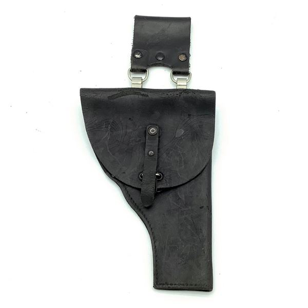 Leather Holster With Belt Attachment, Black