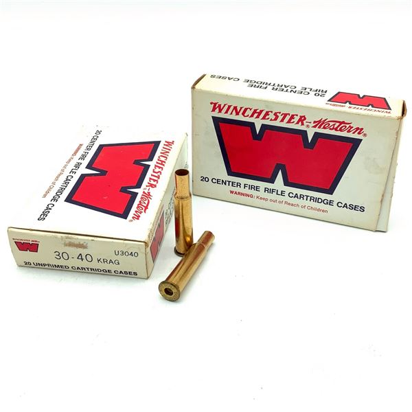 Winchester 30-40 Krag Cases X 40 Pieces