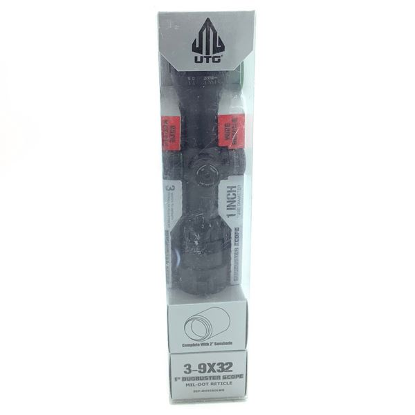 """UTG 3 - 9 X 32 mm BugBuster Scope, 1"""" Tube, Mil Dot Reticle and Sunshade, New"""