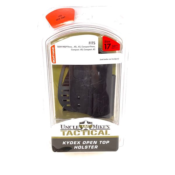 Uncle Mike's Tactical (Size 17) RH S & W M & P 9/40 Cal, 45 Cal, Compact 9mm Holster, New