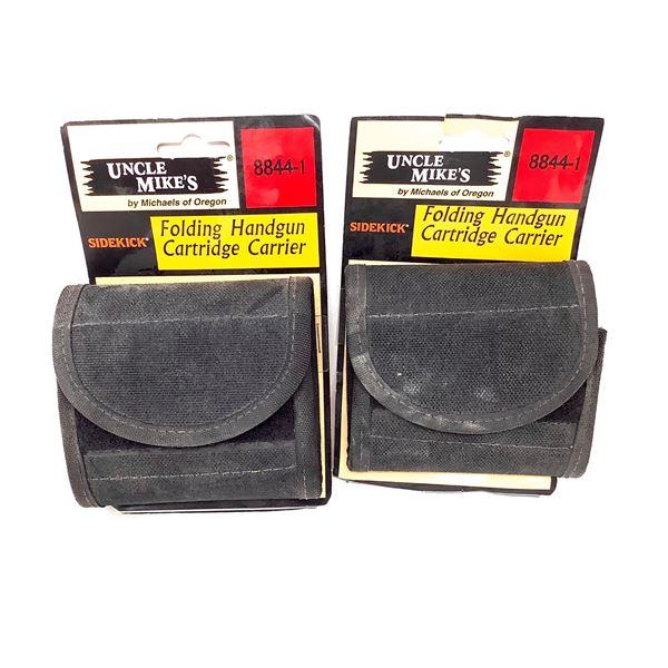 Uncle Mike's Folding Handgun Cartridge Carrier Black X 2, New