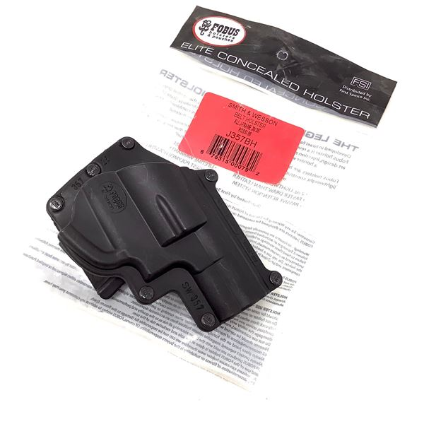 Fobus Belt Holster for S & W All J-Frame 38/357 Cal and Rossi 88, Black, New