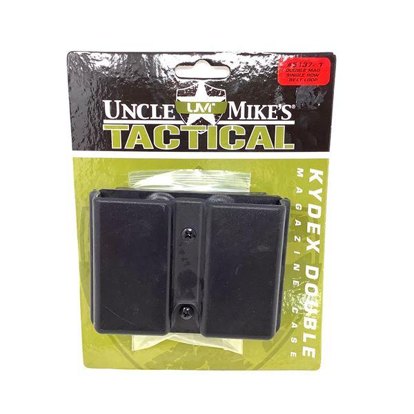 Uncle Mike's Double Magazine Case, Single Row Belt Loop, Black New