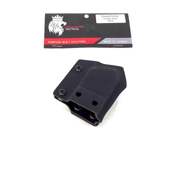 Highlander Tactical Cheetah Magazine Carrier, Double Stack, Black, New