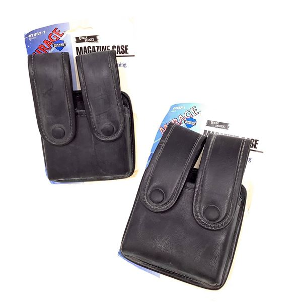 Uncle Mike's Mirage Magazine Case, Single Row W Internal Tensioning, Black X 2, New
