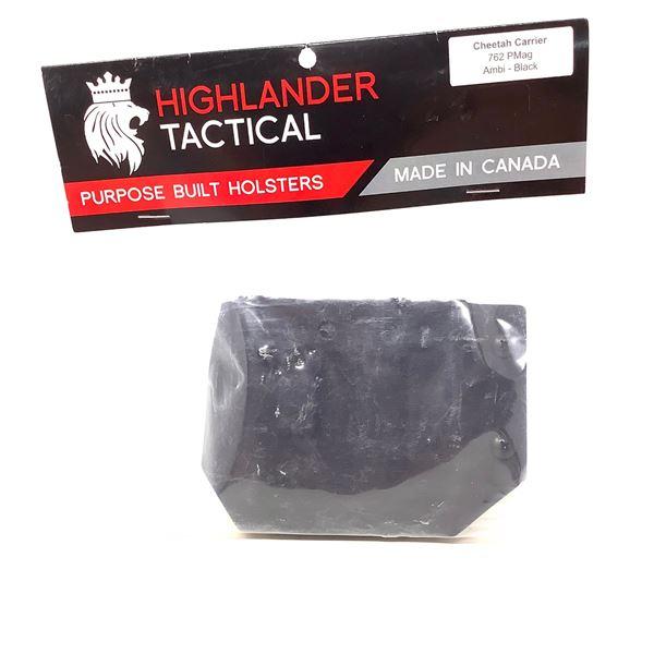 Highlander Tactical Cheetah Magazine Carrier, 7.62 PMag, Ambi Black, New