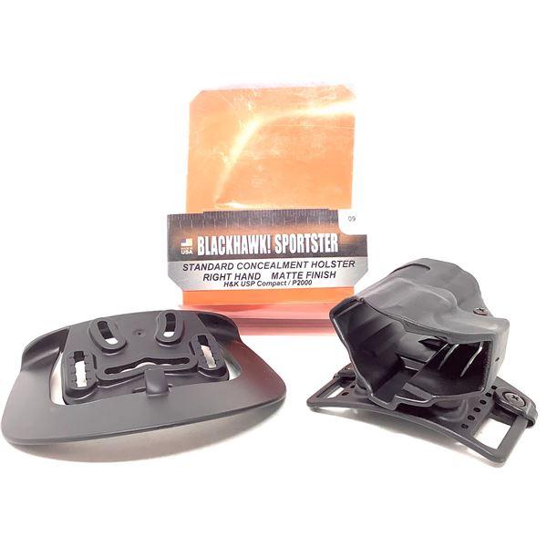 BlackHawk Sportster Standard RH Holster for H & K USP Compact/ P2000, Black, New