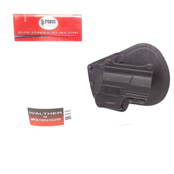 Fobus Elite Walther P22 WP22 Paddle Holster, Black, New