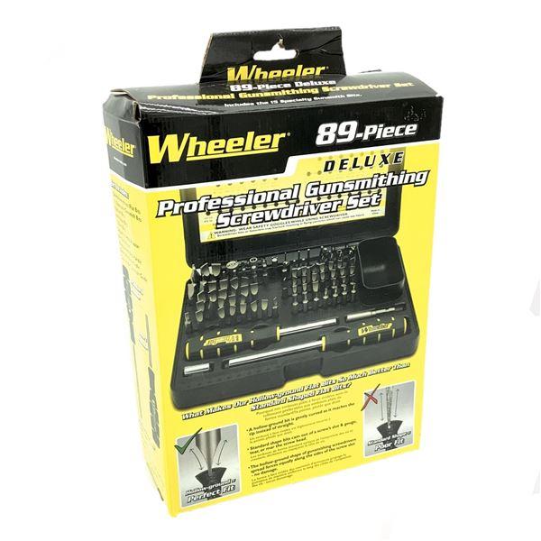 Wheeler Professional Gunsmithing Screwdriver Set, 89 Pieces, New