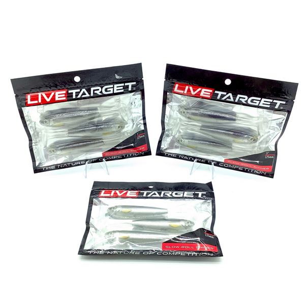 Live Target Slow Roll Shiner X 3, New