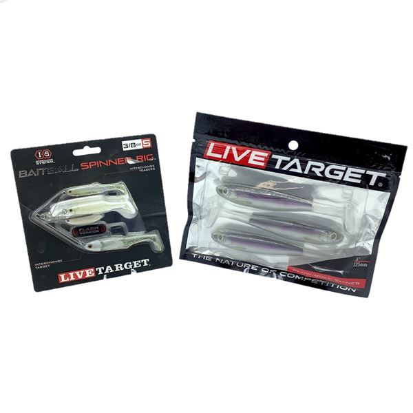 Live Target Slow Roll Shiner, and Baitball Spinner Rig, New