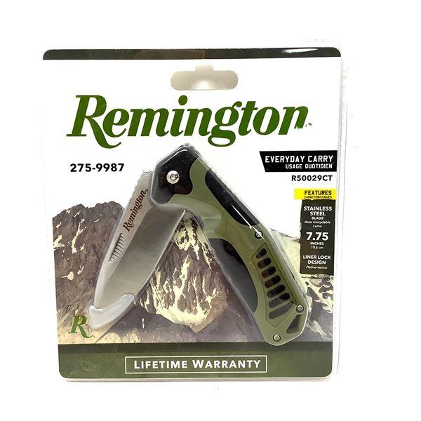 "Remington EveryDay Carry Knife, Folding, 3.25"" Blade, ODG, New"