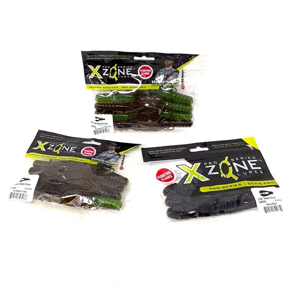 X-Zone Rubber Lures X 3, New