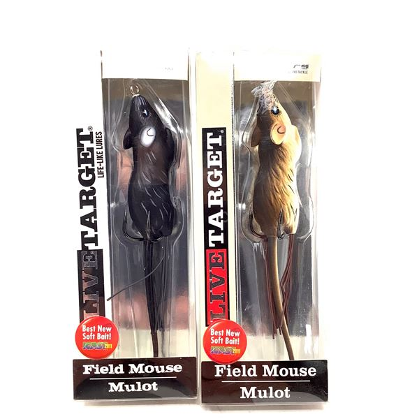 Live Target Field Mouse Lure X 2, New