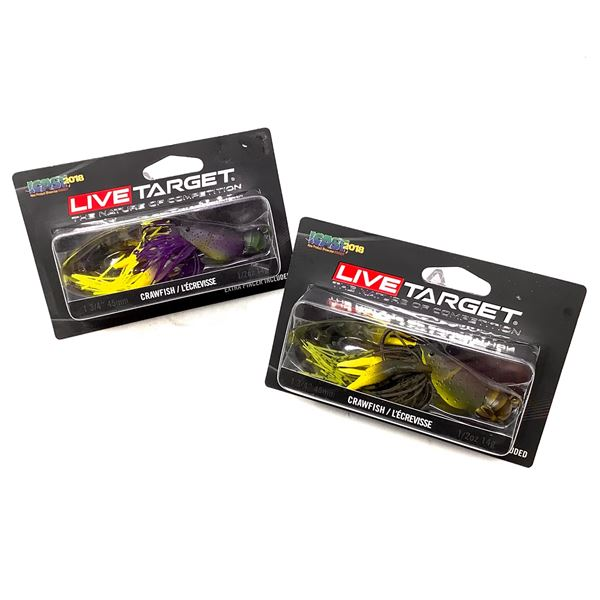 Live Target Crawfish Lures X 2, New