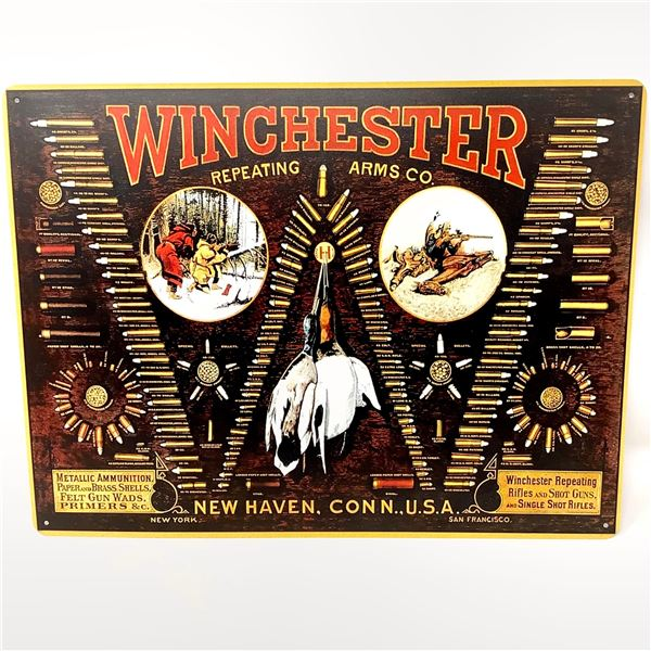 """Vintage Looking Winchester Sign, 12"""" X 16"""", New"""