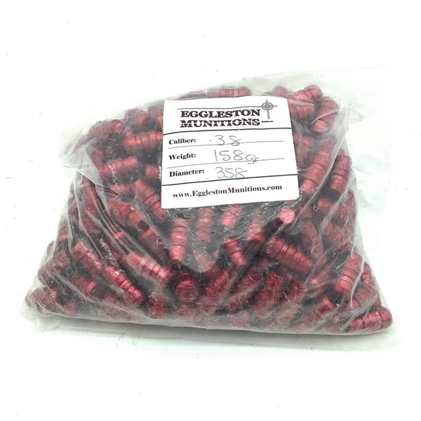 Projectiles 38 Spec/ .357, 158 Grain, Red, Approx 250 Pieces