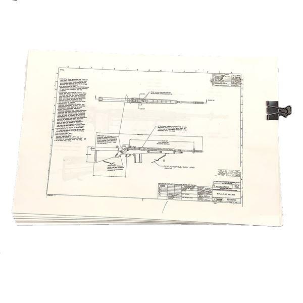 Springfield M14 Technical Drawings/ Gunsmith Blueprints