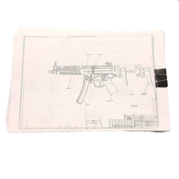 H & K MP5 Technical Drawings/ Gunsmith Blueprints
