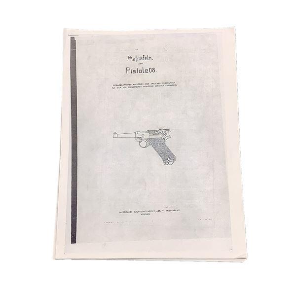 Luger P08 Technical Drawings/ Gunsmith Blueprints