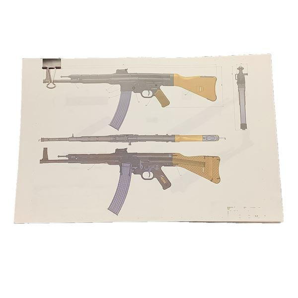 Sturmgewehr 44 Technical Drawings/ Gunsmith Blueprints (Modern Reprint)