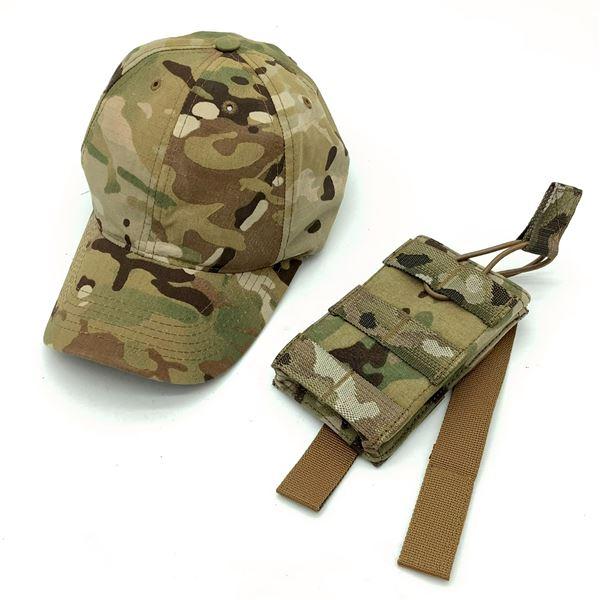 Tru-Spec Hat & Warrior Assault Systems Mag Pouch, Multi Cam