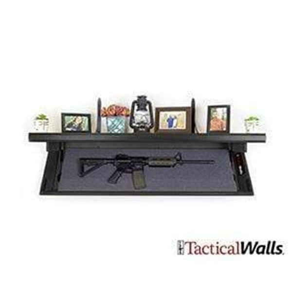Tactical Walls Concealable Rifle Length Shelf, New