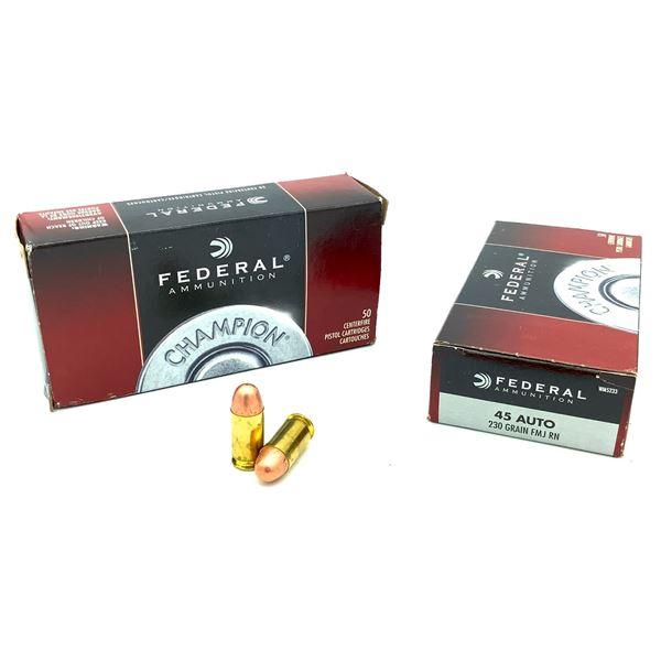 Federal 45 Auto Ammunition - 100 Rnds
