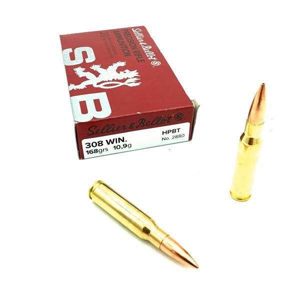 Sellier & Bellot 308 Ammunition - 20 Rnds