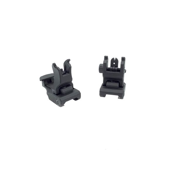 Polymer Flip-Up Front & Rear Picatinny Rifle Sights