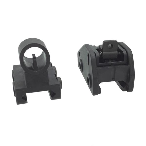 Polymer Front & Rear Picatinny Rifle Sights