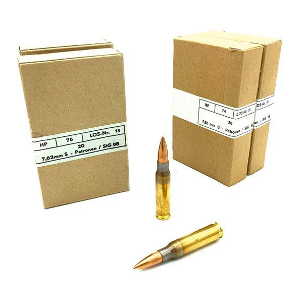 Austrian NATO Military Surplus 7.62 x 51 Ammunition - 80 Rnds