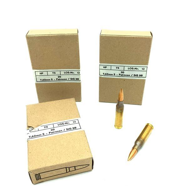 Austrian NATO Military Surplus 7.62 x 51 Ammunition - 60 Rnds