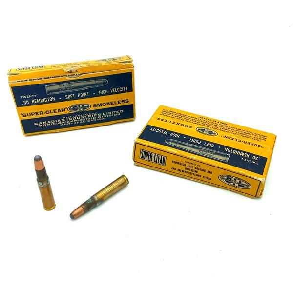 Assorted 30 Rem. Ammunition - 40 Rnds