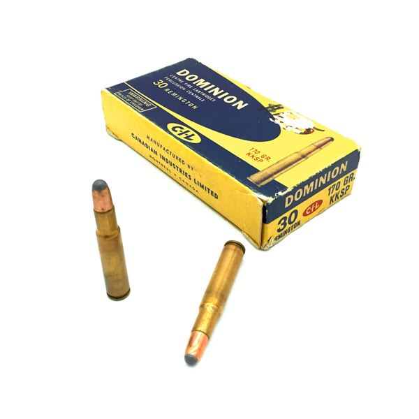 Dominion 30 Rem. Ammunition - 20 Rnds