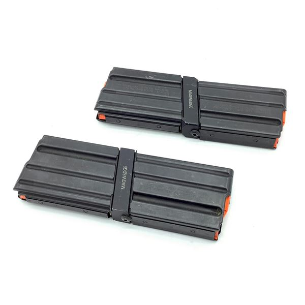 4 x LAR 15 , 10 Round Pistol Magazines with Mag Coupler for 223/5.56