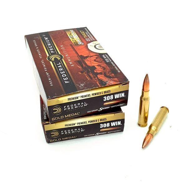 Federal Gold Medal 308 Win Ammunition - 40 Rnds