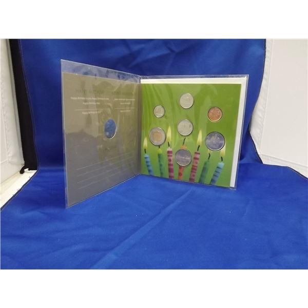 "2011 ""HAPPY BIRTHDAY"" COMMEMORATIVE ROYAL CNDN MINT COIN SET"