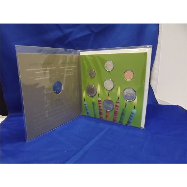 2011  HAPPY BIRTHDAY  COMMEMORATIVE ROYAL CNDN MINT COIN SET