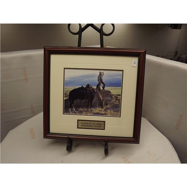 """FRAMED """"LOOKING TO THE FUTURE REMEMBERING THE PAST"""" COWBOY PRINT"""
