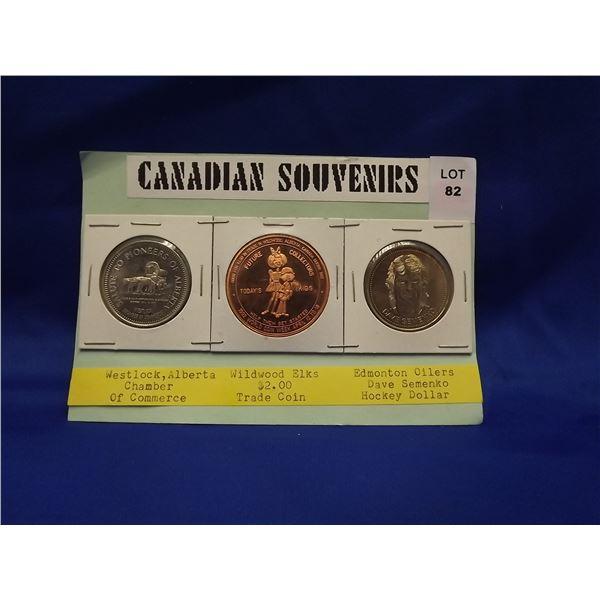 3PC CANADIAN SOUVENIR COINS