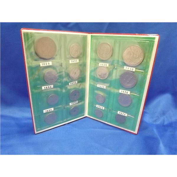 16PC GREEK COIN COLLECTION 1869-1930