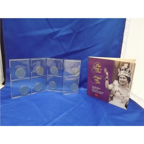 """8PC GOLDEN JUBILEE 50 CENT """"ONCE UPON A TIME"""" KEEPSAKE COIN BOOKLET"""