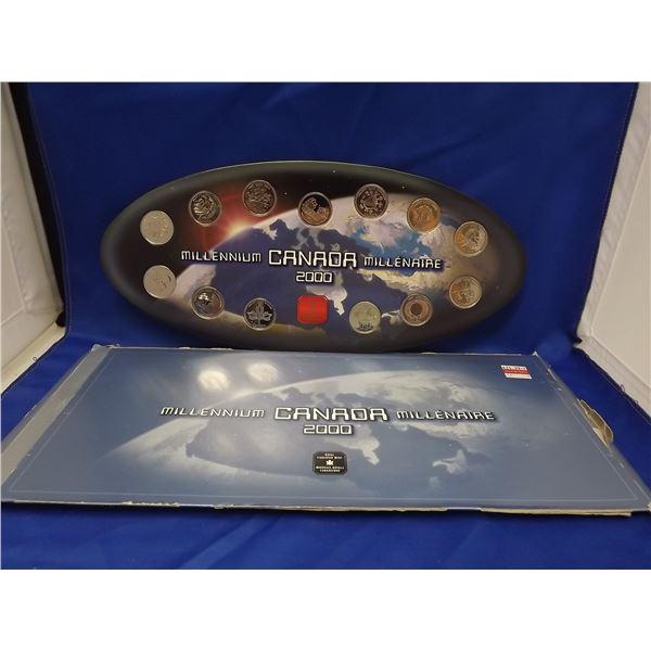 2000 MILLENIUM CNDN 25 CENT 13 PC COIN SET