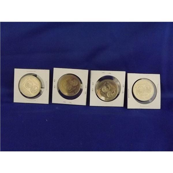 LOT OF 4 WINNIPEG 1974 100YR CNDN $1 COINS