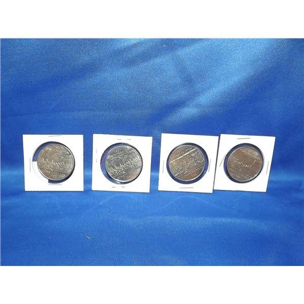 LOT OF 4 1982 CNDN CONFEDERATION $1 COINS